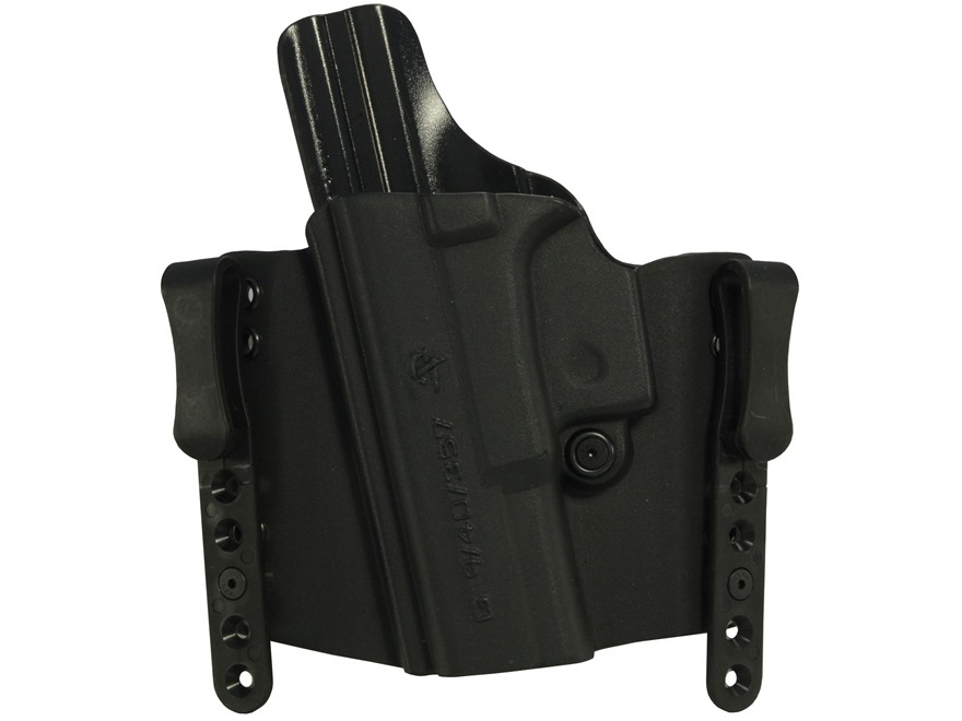 "Comp-Tac FlatLine Convertible Belt and Inside the Waistband Holster 1-1/2"" Belt Clips L..."