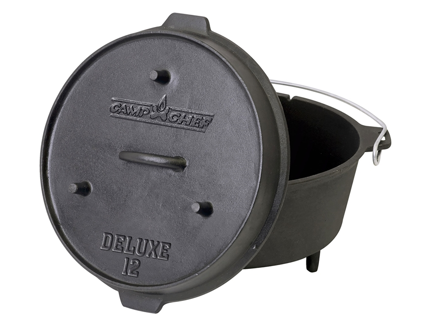 "Camp Chef 12"" Deluxe Dutch Oven Cast Iron"