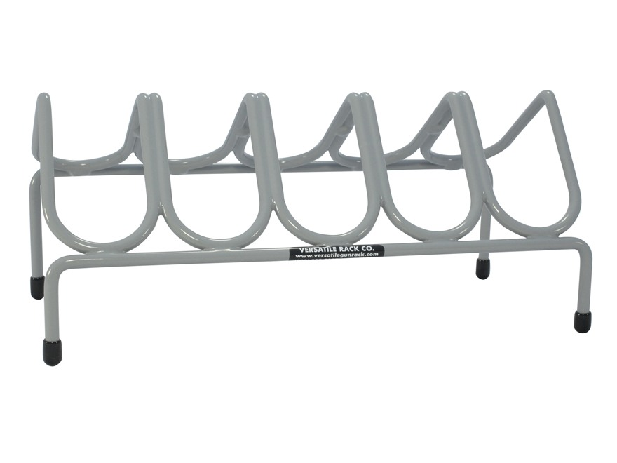 Versatile Gun Rack 5 Pistol Gun Rack Vinyl Coated Steel Gray