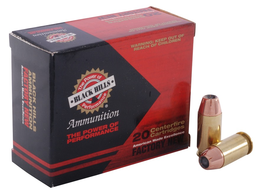 Black Hills Ammunition 45 ACP 185 Grain Jacketed Hollow Point Box of 20