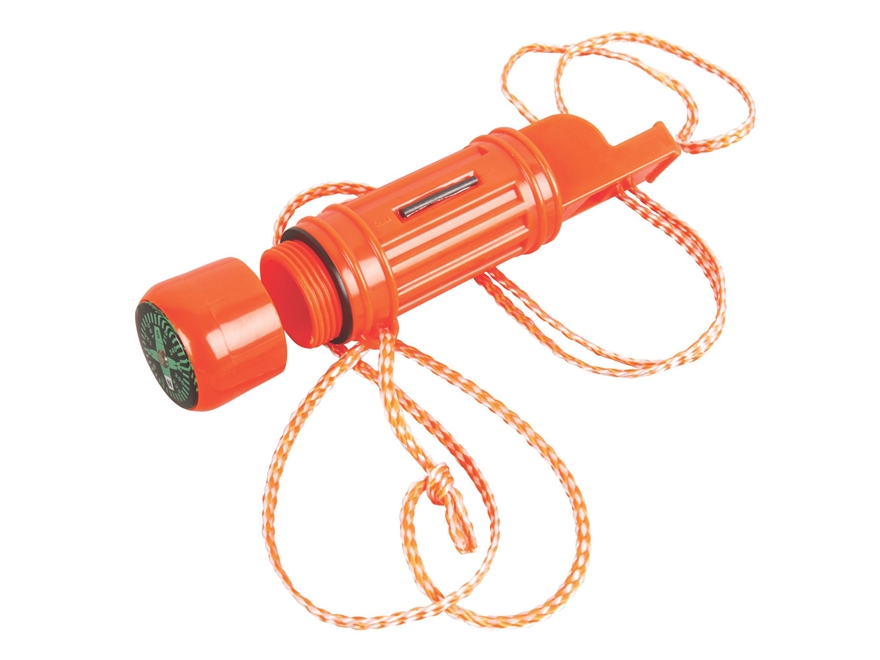 Coleman 5-In-1 Emergency Survival Whistle Polymer Red