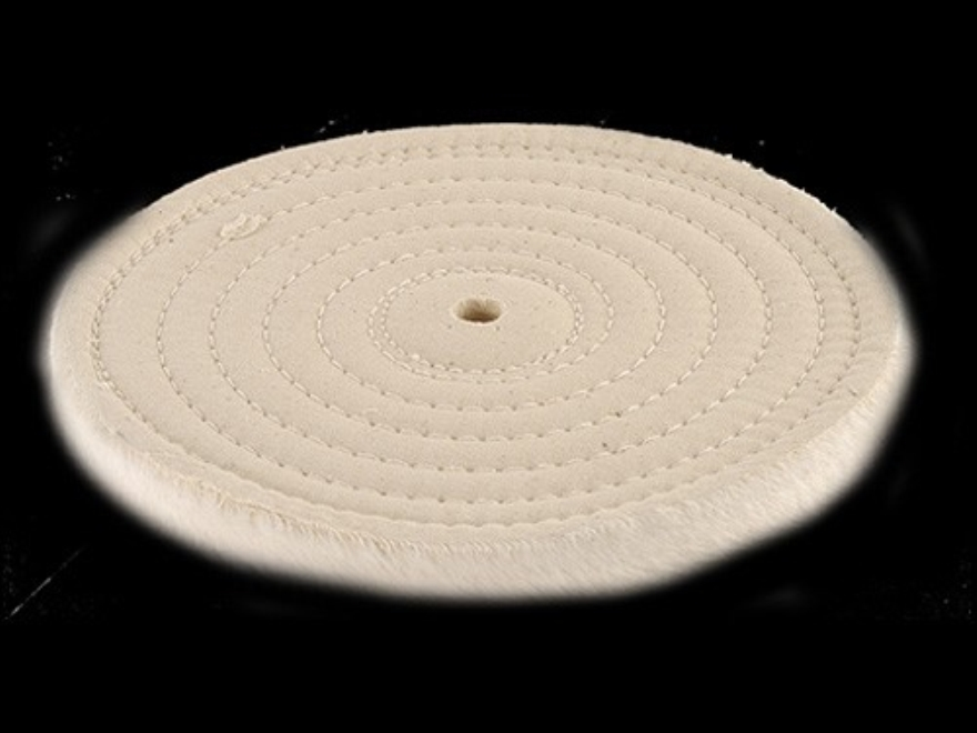"Formax 8"" Diameter 1/2"" Thick Spiral Sewn Cotton Buffing and Polishing Wheel With 5/8"" ..."