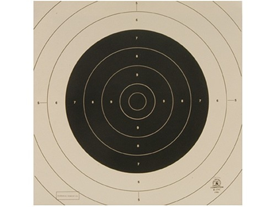 NRA Official International Pistol Targets Repair Center B-19C 25/50 Yard Slow Fire Pape...