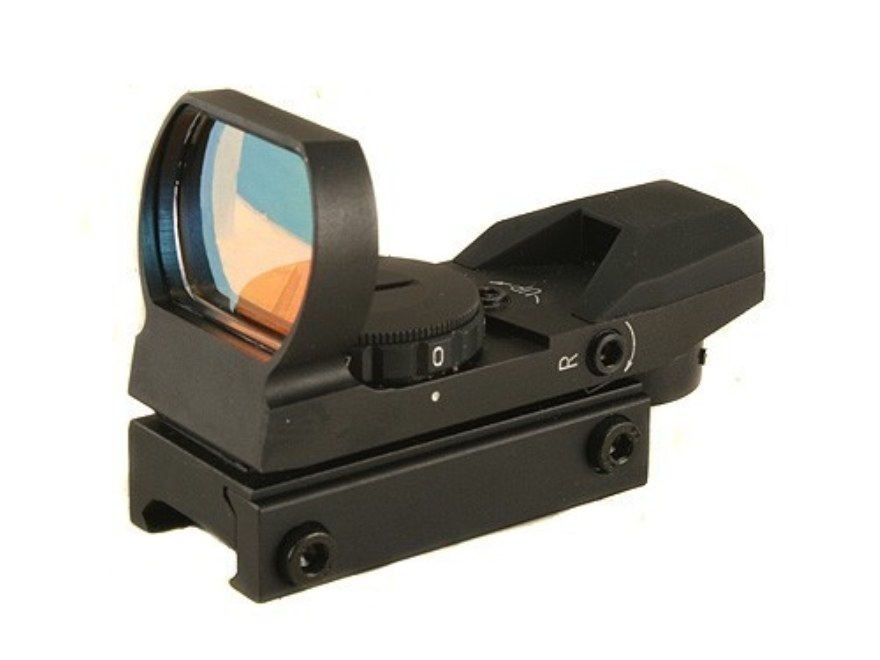 ADCO Mirage Solo Reflex Red Dot Sight 4-Pattern Reticle (3 MOA Dot, 10 MOA Dot, Bracket...