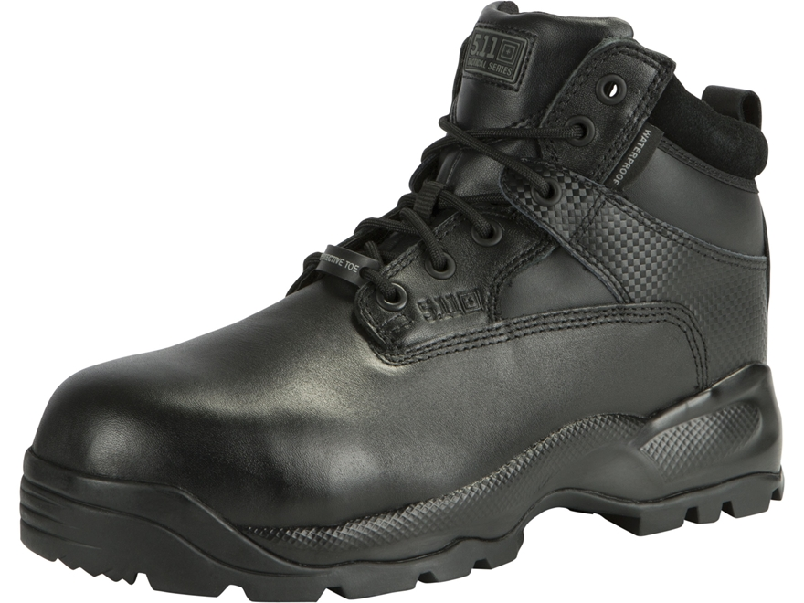 """5.11 ATAC Shield 6"""" Waterproof Safety Toe Tactical Boots Leather Black Men's"""