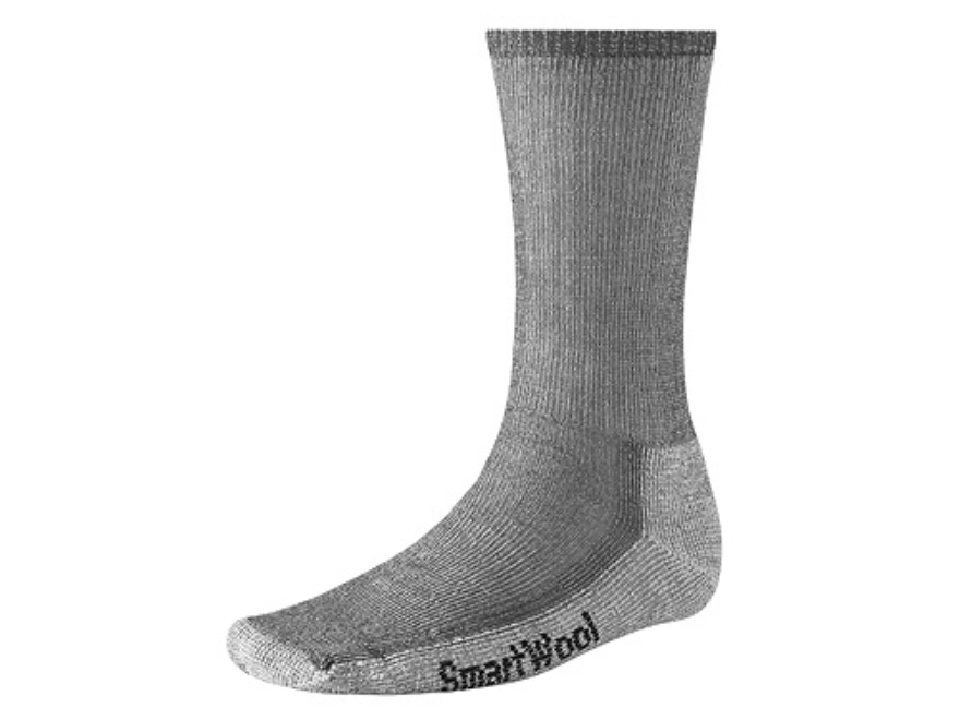 SmartWool Men's Hiking Midweight Crew Socks Wool Blend Gray Large 9-11-1/2