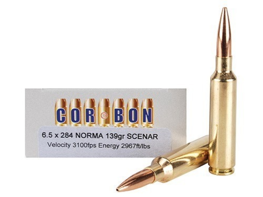Cor-Bon Performance Match Ammunition 6.5mm-284 Norma 139 Grain Lapua Scenar Box of 20