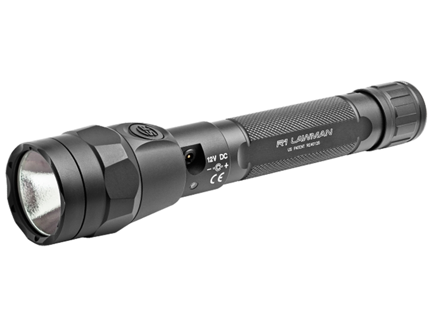 Surefire R1 Lawman Flashlight LED with Rechargeable Li-Ion Battery Aluminum Black