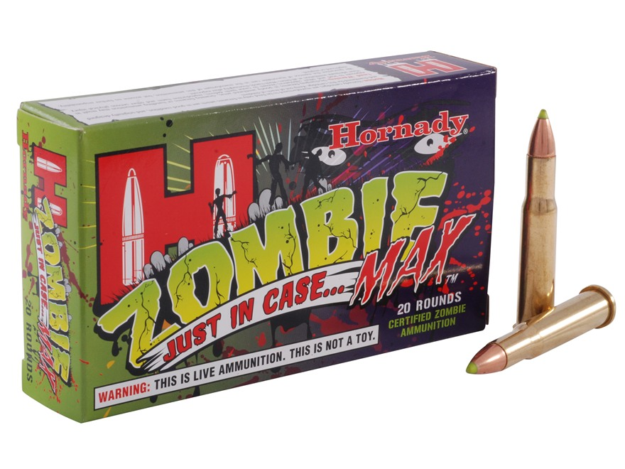 Hornady Zombie Max Ammunition 30-30 Winchester 160 Grain Z-Max Flex Tip eXpanding Box o...
