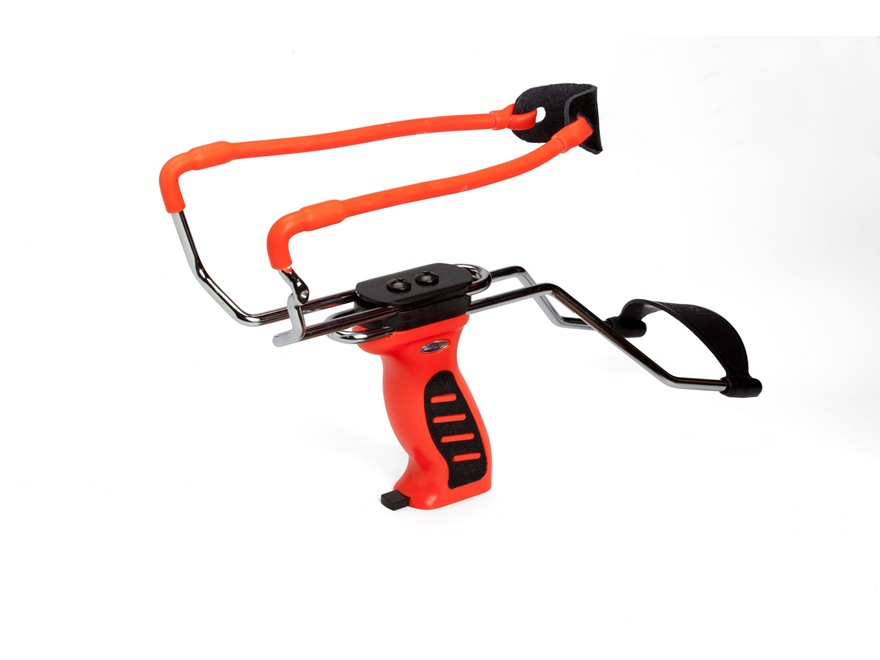 Velocity Archery Firecat Slingshot Polymer Handle Orange