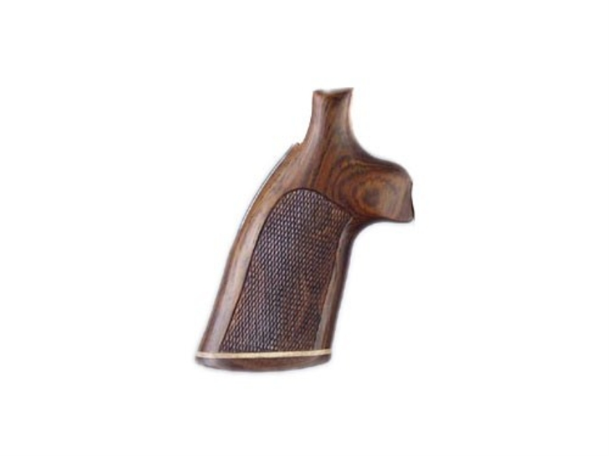Hogue Fancy Hardwood Grips with Accent Stripe Colt Diamondback Checkered