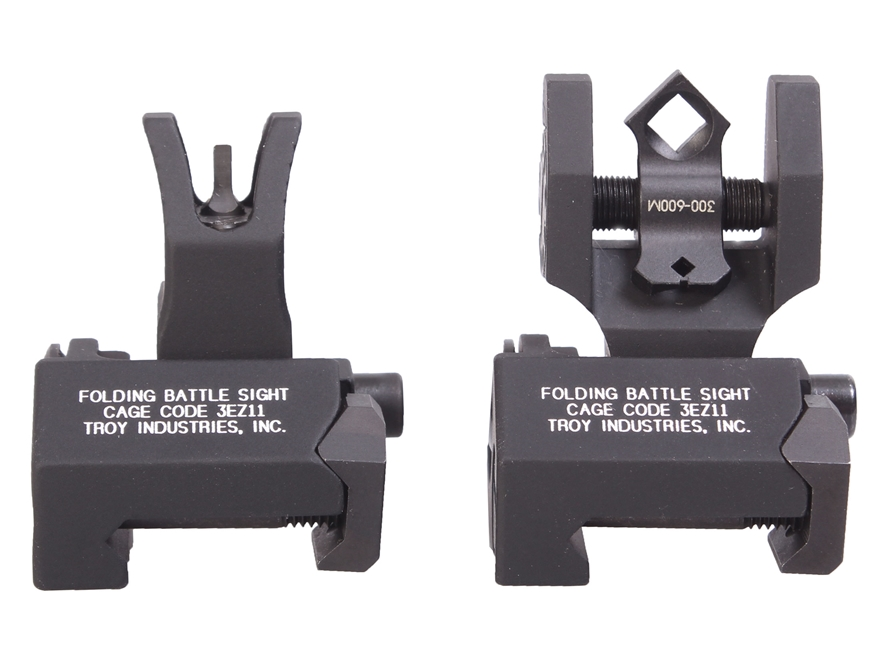 Troy Industries Medium Flip-Up Battle Sight Set M4-Style Front, Diopter Rear AR-15 Alum...