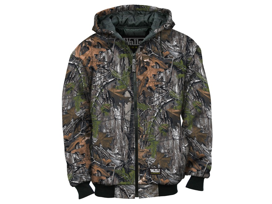 Walls Legend Men's Insulated Quilted Fleece Jacket Cotton Polyester Blend Realtree Xtra...