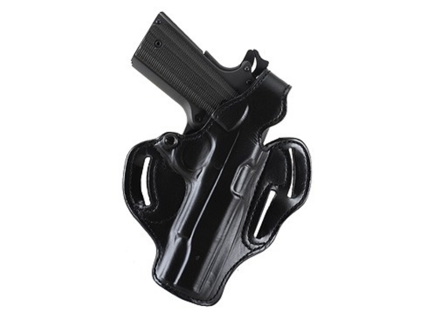 DeSantis Thumb Break Scabbard Belt Holster Right Hand Glock 36 Suede Lined Leather Black