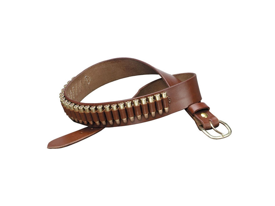 Triple K 100 Heavy Saddle Leather Pistol Cartridge Belt Walnut Oil