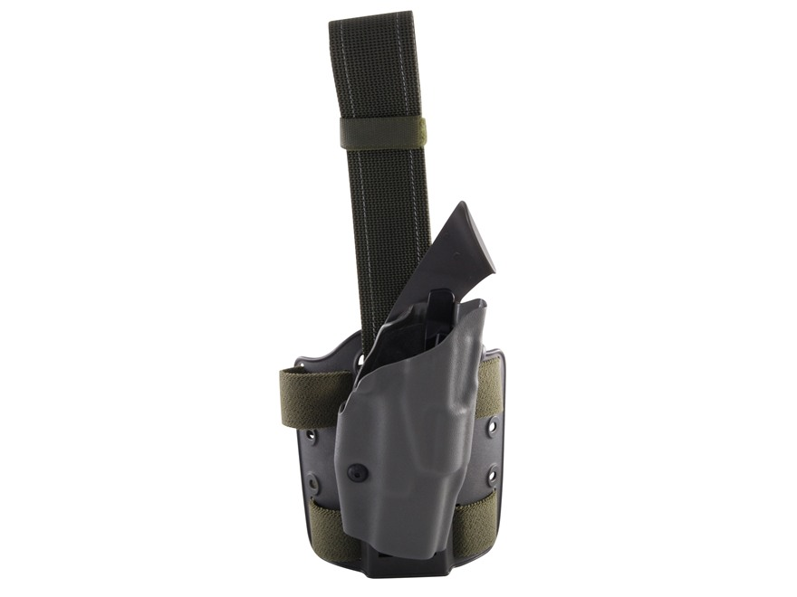 Safariland 6354 ALS Tactical Drop Leg Holster Right Hand Glock 19, 23, 32 Polymer Olive...
