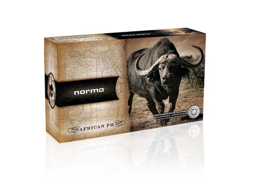 Norma African PH Ammunition 375 H&H Magnum 350 Grain Woodleigh Weldcore Soft Nose Box o...