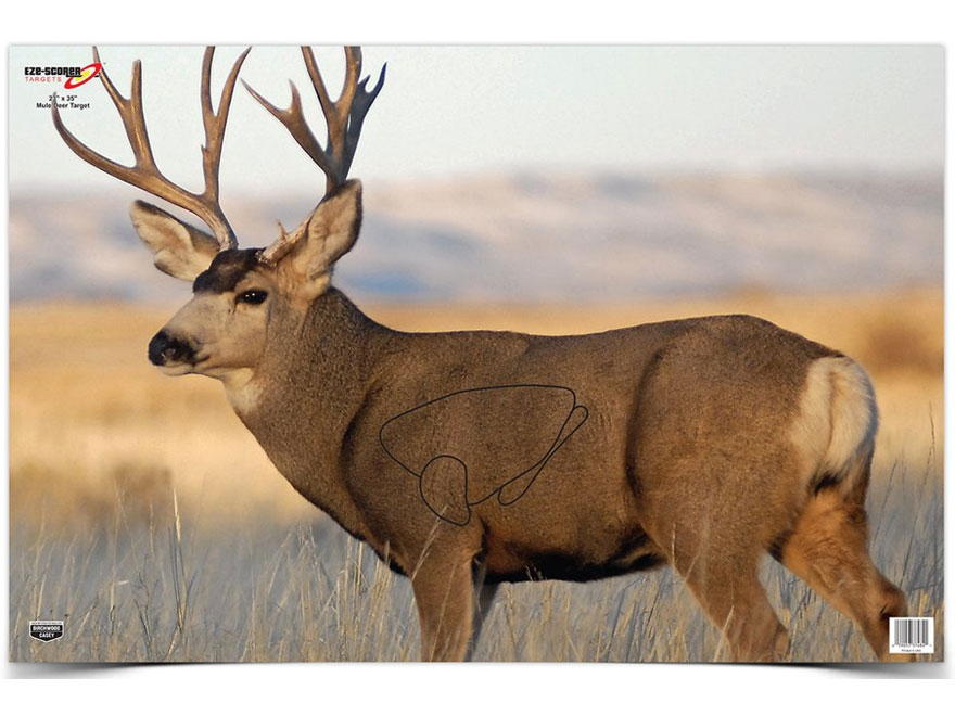 "Birchwood Casey Eze-Scorer Mule Deer Targets 23"" x 35"" Pack of 2"