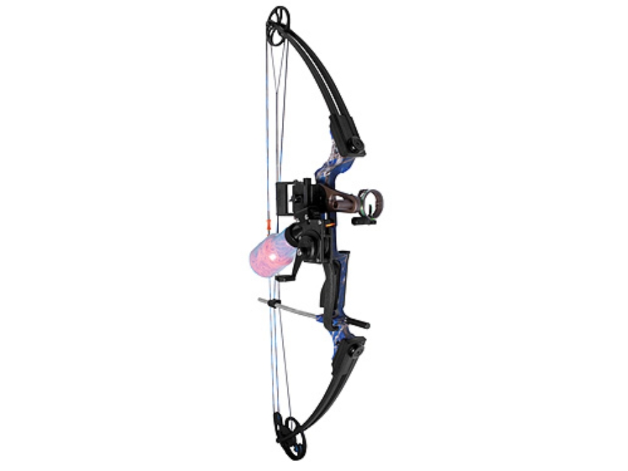 AMS Fish Hawk Bowfishing Bow Package with Retriever Pro Reel  30-40 lb Right Hand Koi Camo