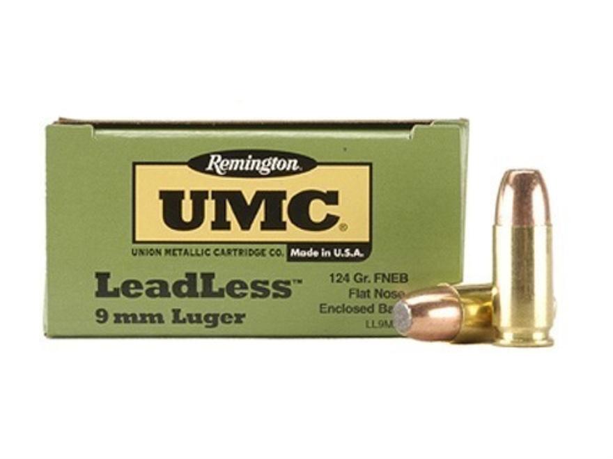Remington UMC Ammunition 9mm Luger 124 Grain Flat Nose Enclosed Base Box of 50
