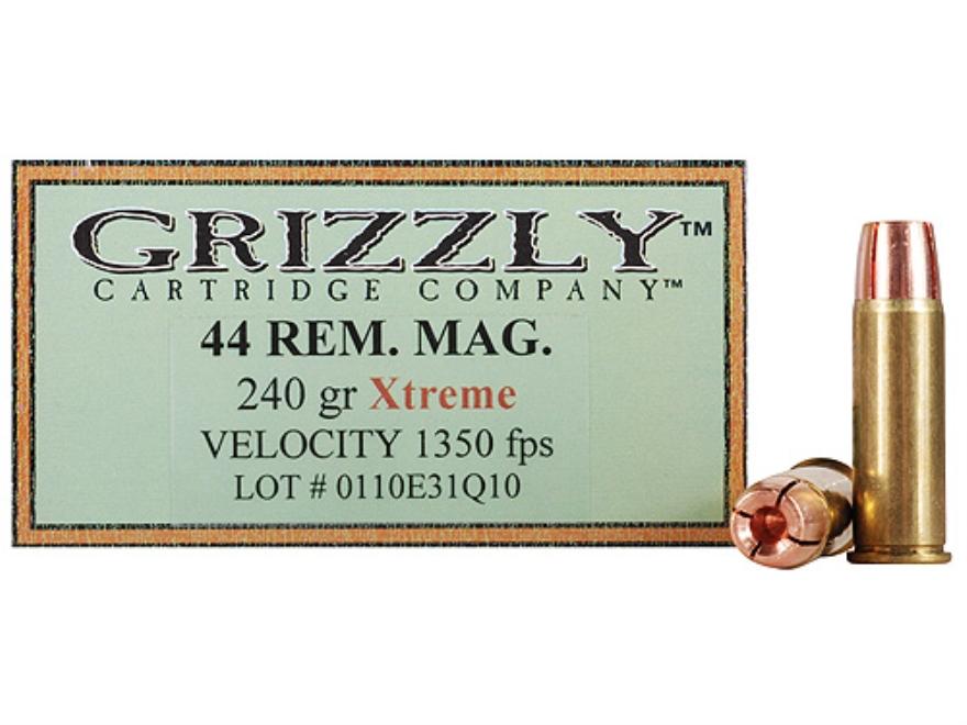 Grizzly Self-Defense Ammunition 44 Remington Magnum 240 Grain Xtreme Copper Hollow Poin...