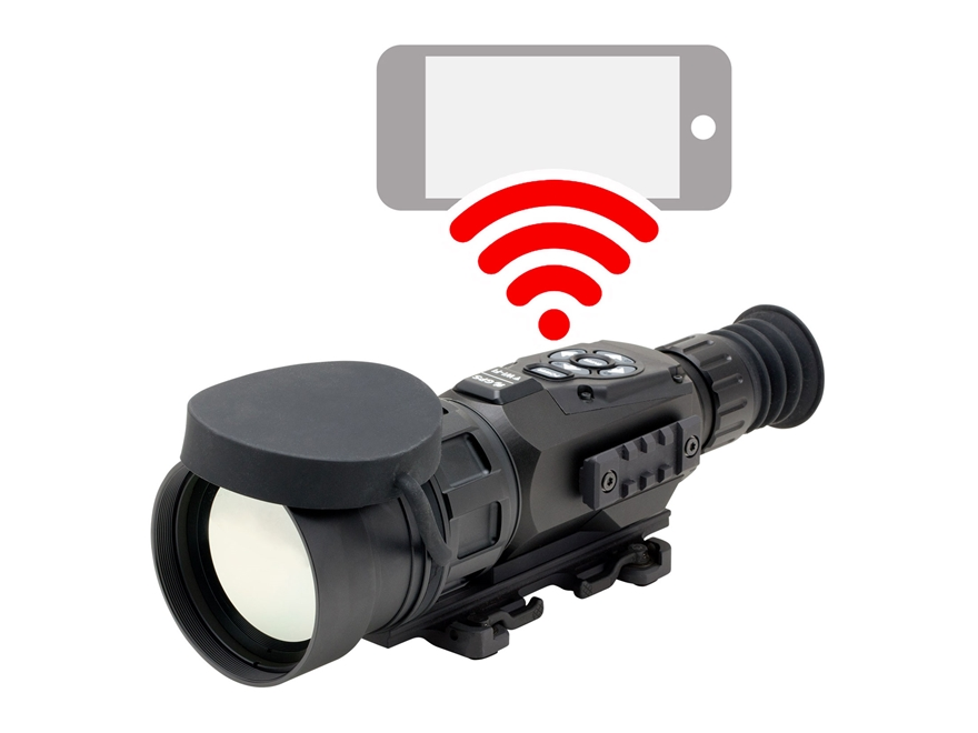 ATN ThOR HD Thermal Rifle Scope 5-50x 100mm 640x480 with HD Video Recording, Wi-Fi, GPS...