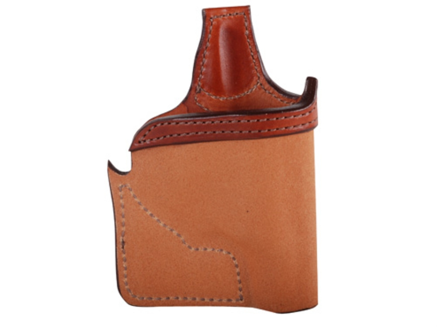 Bianchi 152 Pocket Piece Pocket Holster Ruger LCR Leather Brown