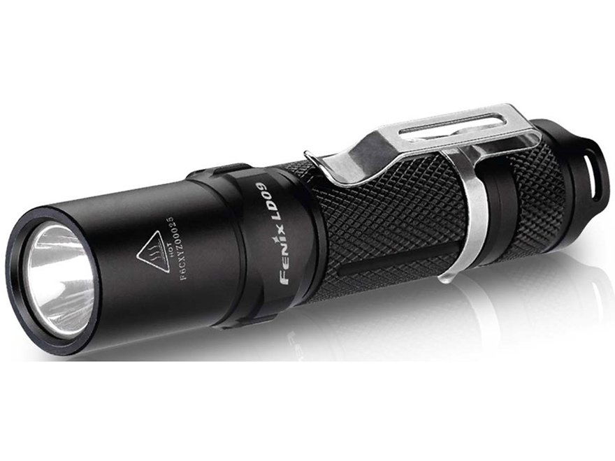Fenix LD09 Flashlight LED with 1 AA Battery Aluminum Black