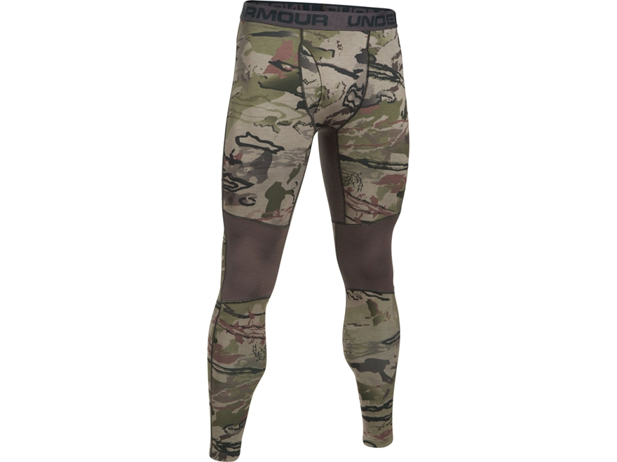 Under Armour Men's UA Mid-Season Reversible Wool Base Layer Pants Polyester/Wool Ridge ...
