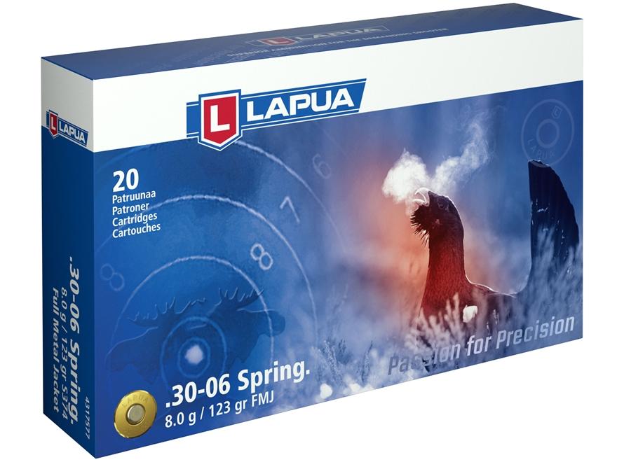 Lapua Ammunition 30-06 Springfield 123 Grain Full Metal Jacket Box of 20