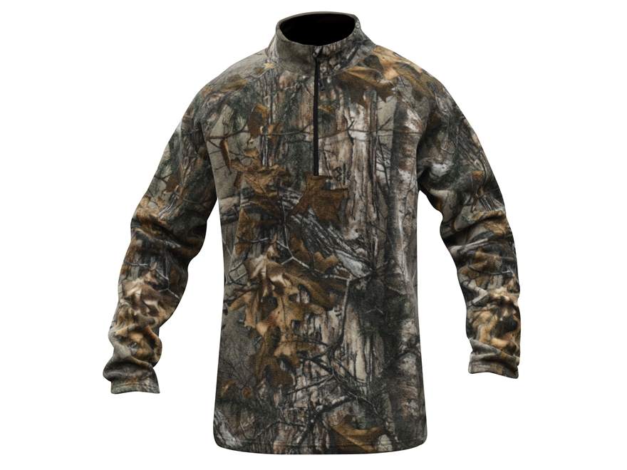 MidwayUSA Men's Level Three 1/4 Zip Base Layer Shirt Realtree Xtra Camo Large