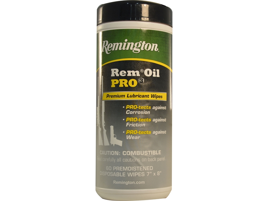 Remington Rem Oil PRO3 Gun Oil Pop-up Wipes 60 Count Container