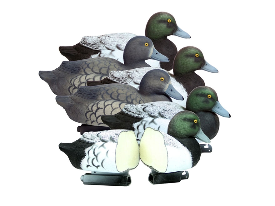 Higdon Battleship Foam Filled Bluebill Duck Decoy Polymer Pack of 6