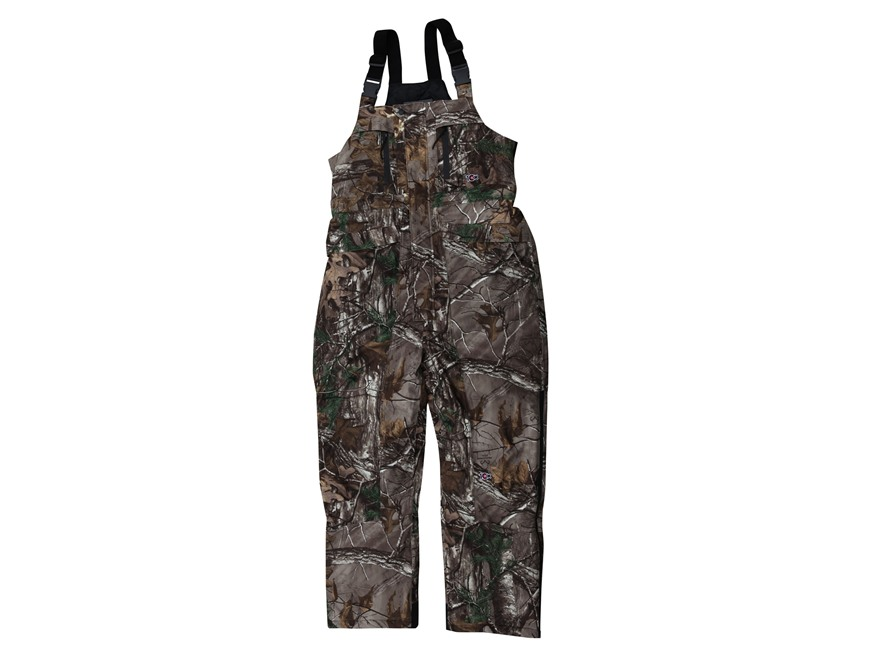 10X Men's ScenTrex Waterproof Insulated Bibs Polyester Realtree Xtra Camo Medium 34-36