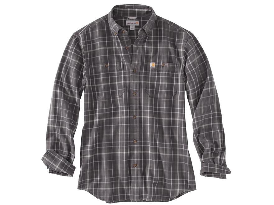 Carhartt Men's Trumbull Plaid Button-Up Shirt Long Sleeve Cotton