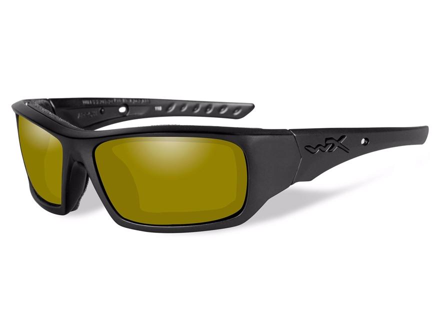 wiley x wx arrow polarized sunglasses matte black frame yellow lens - Yellow Frame Sunglasses