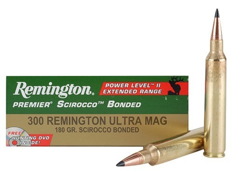 Remington Premier Power Level 2 Ammunition 300 Remington Ultra Magnum 180 Grain Swift S...