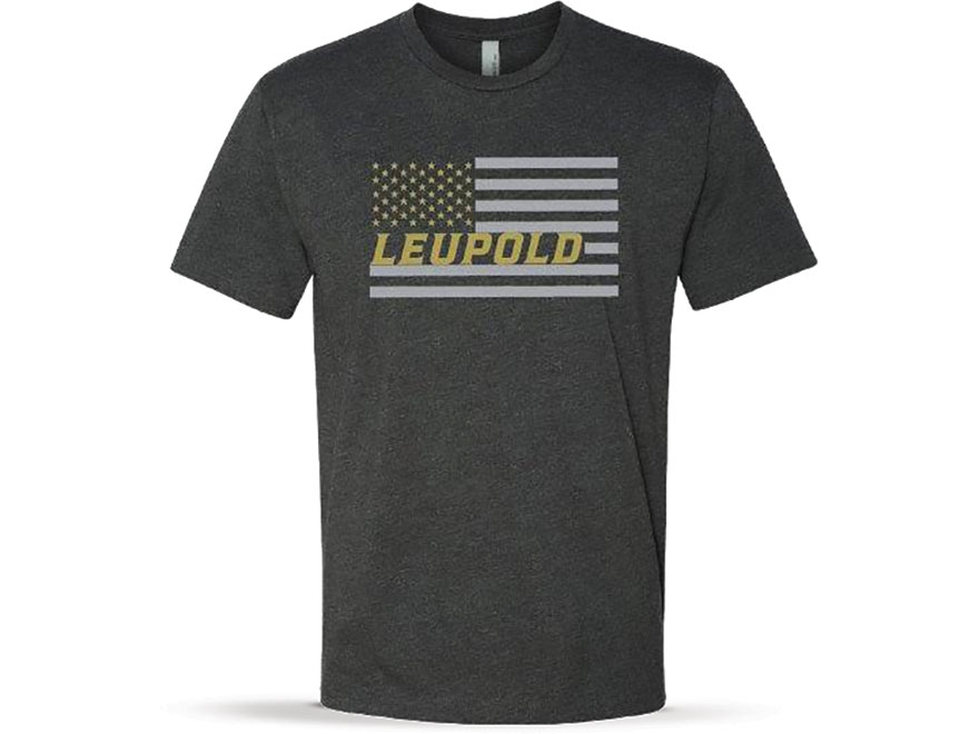 Leupold Men's USA Flag T-Shirt Short Sleeve Cotton/Poly