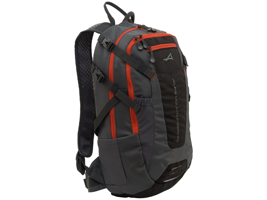 ALPS Mountaineering Hydro Trail 15 Hydration Backpack Polyester Black and Orange