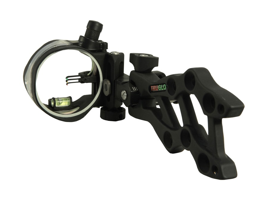 TRUGLO Rival Hunter 3-Pin Bow Sight .029, .019 and .010 Diameter Pins Black