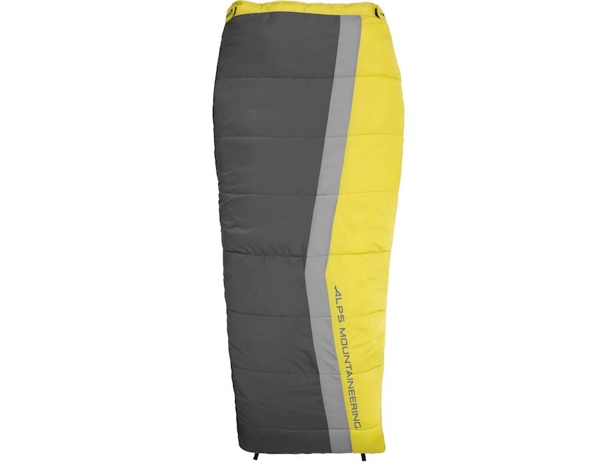 ALPS Mountaineering Drifter Sleeping Bag Polyester Citrus/Coal