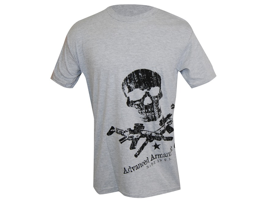 Advanced Armament Co (AAC) X-Guns Logo Sideprint T-Shirt Short Sleeve Cotton Gray 3XL
