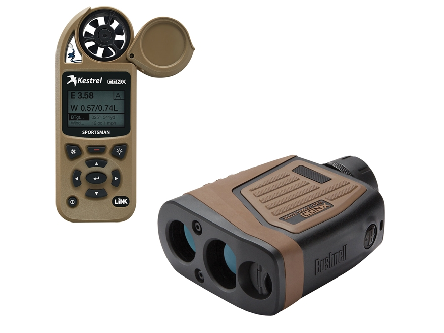 Bushnell Elite 1 Mile CONX Laser Rangefinder 7x Brown Combo with Kestrel Weather Meter