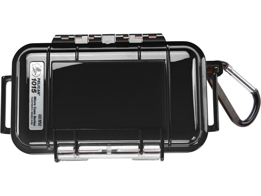 "Pelican 1015 Micro Case 5.14"" x 2.64"" x 1.37"" Polymer Black"