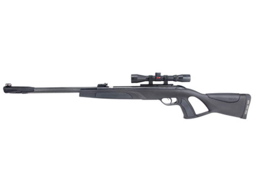 Gamo Whisper CFR Underlever Air Rifle 177 Caliber Pellet Black Synthetic Stock Blue Bar...