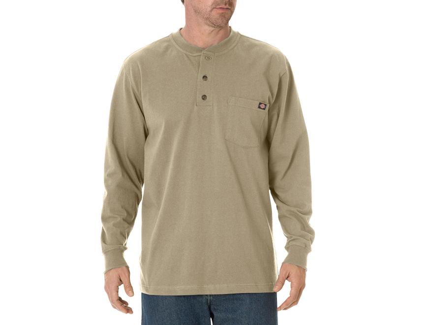 Dickies Men's Henley T-Shirt Long Sleeve