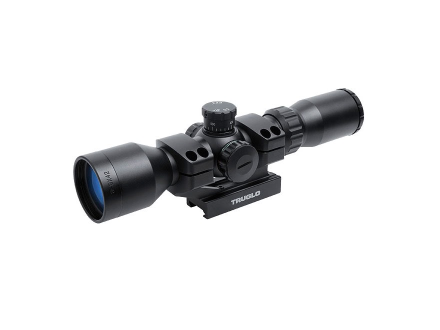 TRUGLO Tactical Rifle Scope 30mm Tube 3-9x 42mm BDC Turret Illuminated Mil Dot Reticle ...