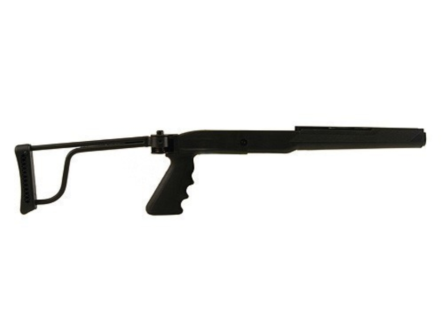 Butler Creek Pistol Grip Folding Rifle Stock Ruger Mini-14, Mini-30 Synthetic Black Blue