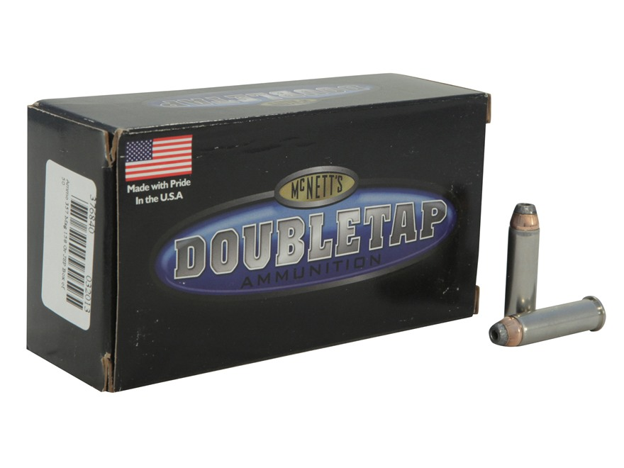 Doubletap Ammunition 357 Magnum 158 Grain Jacketed Hollow Point Box of 50