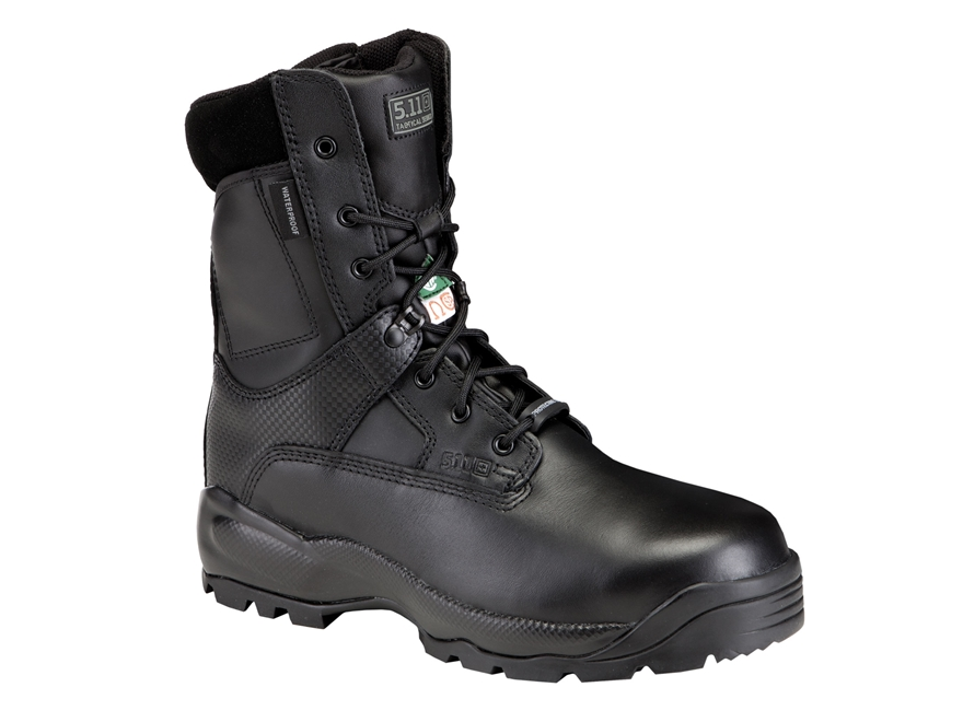 "5.11 ATAC 8"" Shield Waterproof Uninsulated Tactical Boots Leather Black Men's"